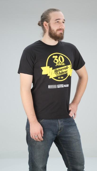 Motorradfahrer T-Shirt 30 Jahre Größe XXL