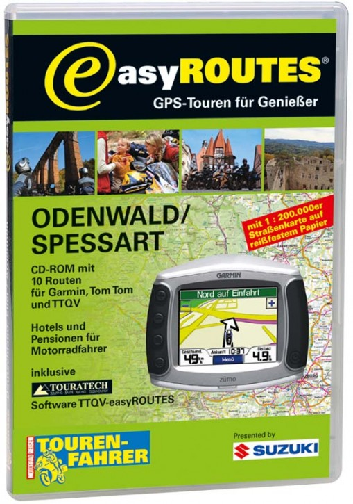 easyROUTES - Odenwald - Spessart CD