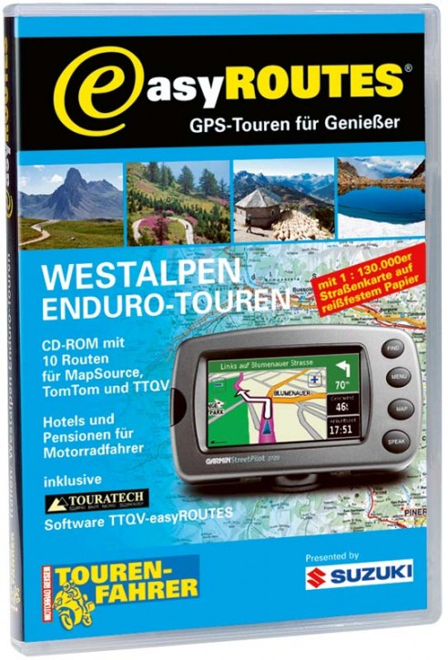 easyROUTES - Westalpen CD