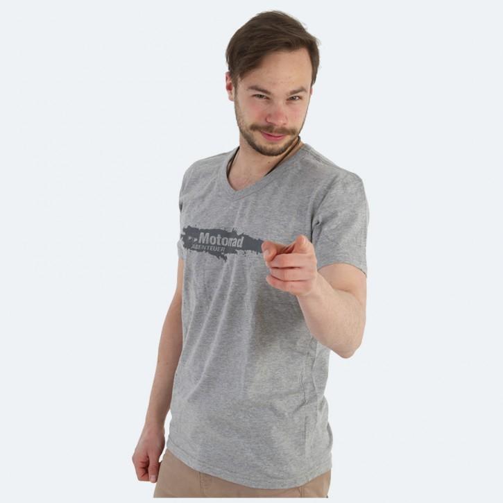 MotorradABENTEUER T-Shirt V-Neck