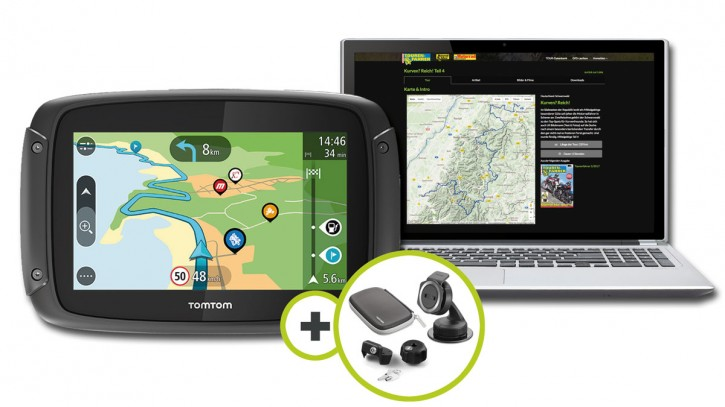 TomTom Rider 450 Premium Pack inklusive TF-Tour-Datenbank-Flatrate