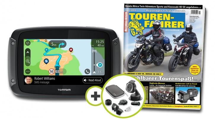 TomTom Rider 550 Premium Pack inklusive TOURENFAHRER Jahresabo