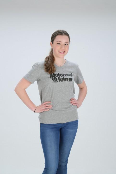 Motorradfahrer T-Shirt V-Neck L