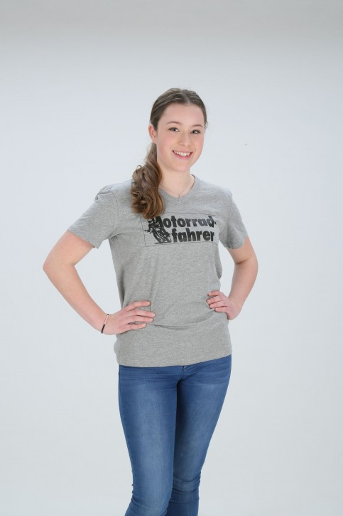 Motorradfahrer T-Shirt V-Neck S