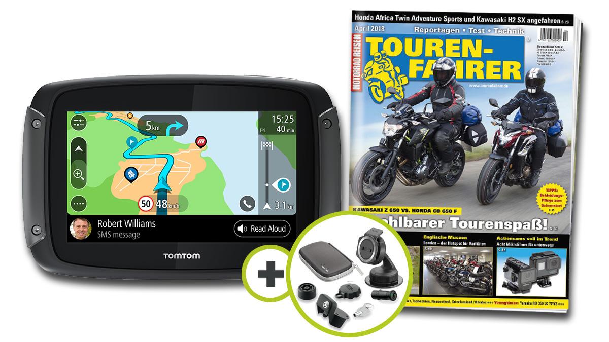 bf8949f13fe52e TomTom Rider 550 Premium Pack inklusive TOURENFAHRER Jahresabo-