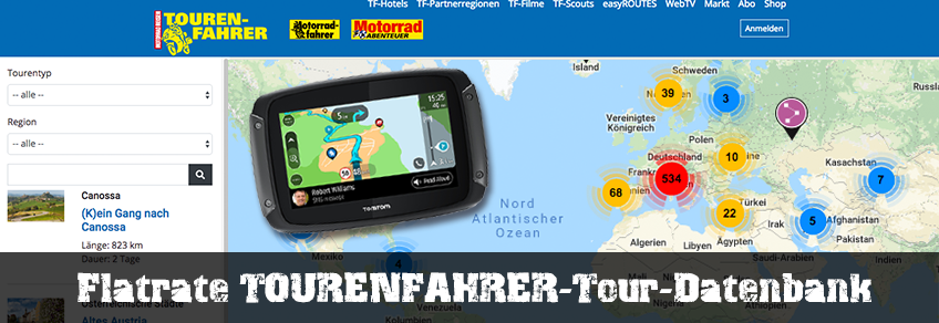 Flatrate TOURENFAHRER-Tour-Datenbank