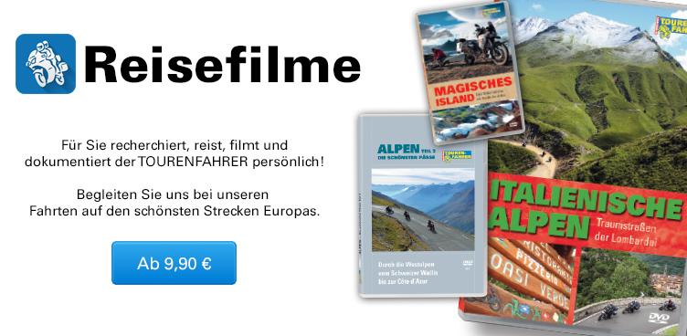 Motorrad-Reisefilme - Sliderelement