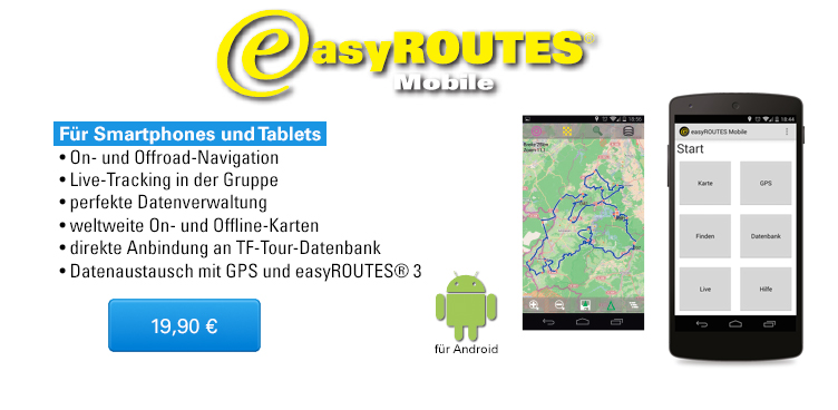 easyROUTES Mobile für Android - Sliderelement