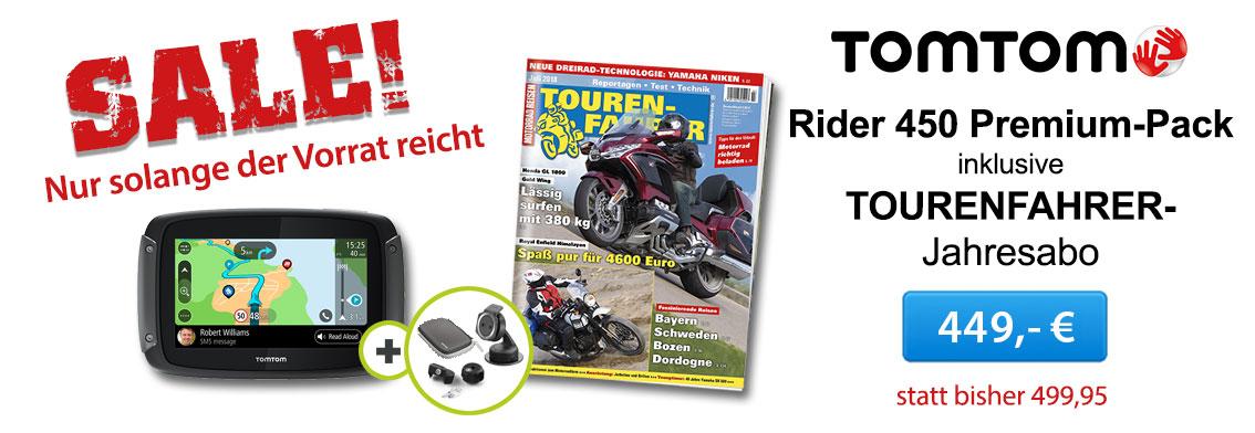 TomTomRider 450 inkl. Tourenfahrer Jahresabo