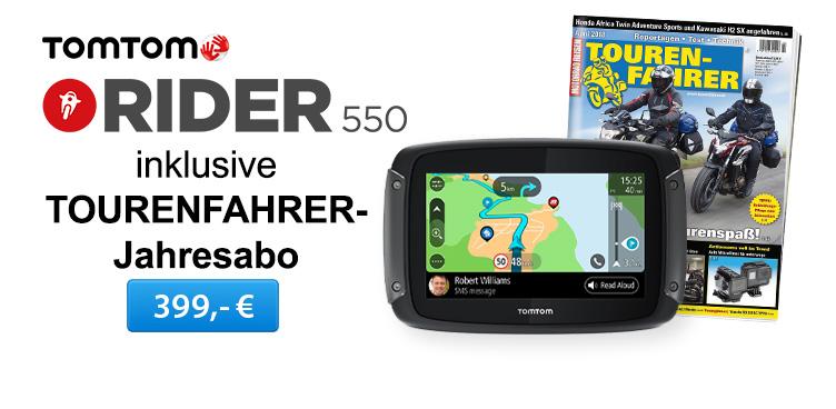 TomTom Rider 550_TF Jahresabo - Sliderelement