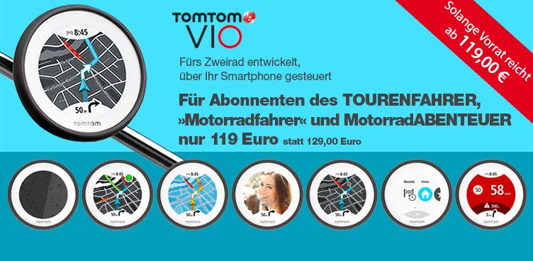 TomTom VIO mit Abonnenten-Rabatt - Sliderelement
