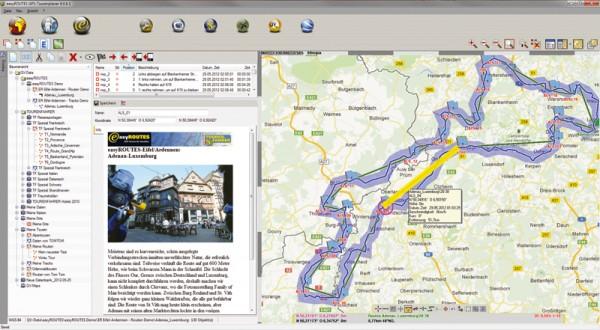 easyROUTES GPS-Tourenplaner